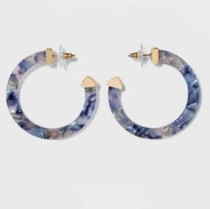 Sugarfix By Baublebar Classic Hoop Resin Earrings